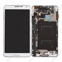 Samsung GALAXY Note III N9005 white LCD, модуль, дисплей с сенсорным экраном с рамкой в сборе
