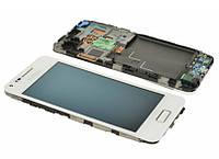 Samsung Galaxy S Advanced I9070 white LCD, модуль, дисплей с сенсорным экраном с рамкой в сборе