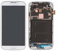 Samsung Galaxy s4 i9507 white LCD, модуль, дисплей с сенсорным экраном с рамкой в сборе