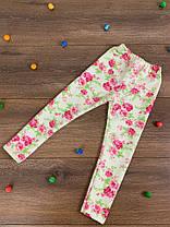"""Детские лосины для девочек """"Цветы"""" (двунитка), фото 3"""