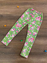 """Детские лосины для девочек """"Цветы"""" (двунитка), фото 2"""