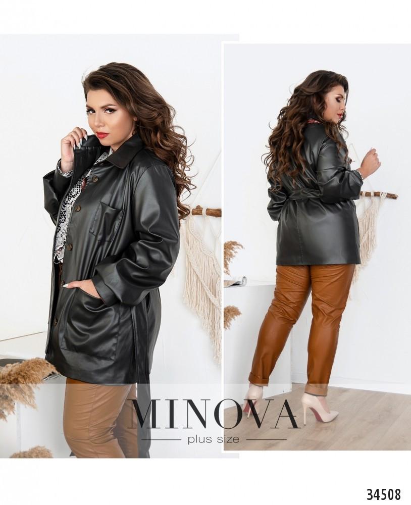 Куртка из эко кожи №722Б-графит