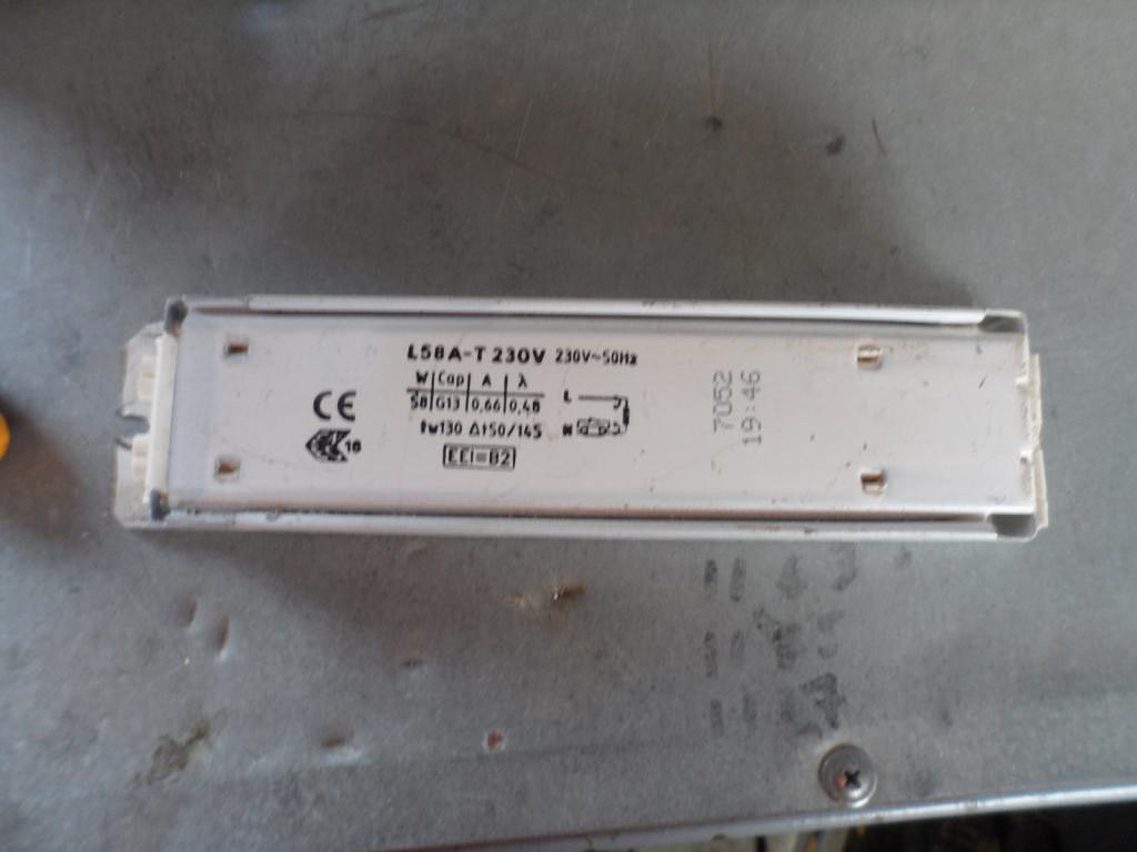 Дроссель для дневных ламп 1х58w (демонтаж)