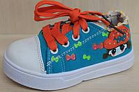 Детская спортивная обувь, стильные кеды для девочки тм Тom.m р.27,28