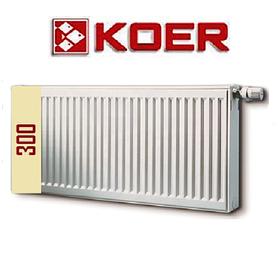 Стальной радиатор Koer 22 тип H 300 боковое т нижнее подключение