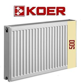 Стальной радиатор Koer 22 тип H 500 боковое и нижнее подключение