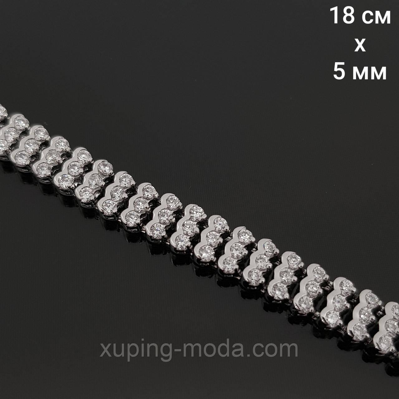 Браслет с камнями сваровски. Красивые браслеты