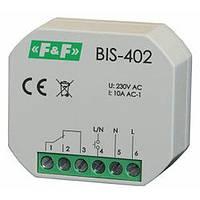 Реле импульсное BIS-402 10А бистабильное F&F