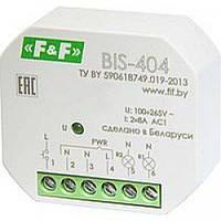 Реле импульсное BIS-404 2х10А 2-канальное бистабильное F&F