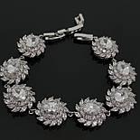 Королевский браслет с белыми камнями Сваровски, фото 2