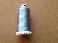 Нитки для машинной вышивки   Madeira Classic №40.  цвет 1027 ( ГОЛУБОЙ ).   1000 м