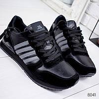 Кроссовки мужские в стиле Adi черные 8041