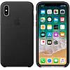 Кожаный чехол Apple Leather Case Black (MQTD2) для iPhone X/XS (high copy), фото 2