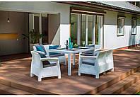 Набор садовой мебели Corfu Fiesta Set White ( белый ) из искусственного ротанга, фото 1