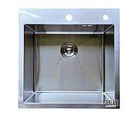 Кухонная мойка врезная под столешницу 50*50*23 см Galati Arta U-450 (бесплатная доставка), фото 1