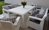 Набор садовой мебели Corfu Fiesta Set White ( белый ) из искусственного ротанга ( Allibert by Keter ), фото 3