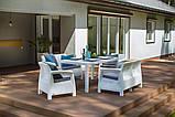 Набор садовой мебели Corfu Fiesta Set White ( белый ) из искусственного ротанга ( Allibert by Keter ), фото 6