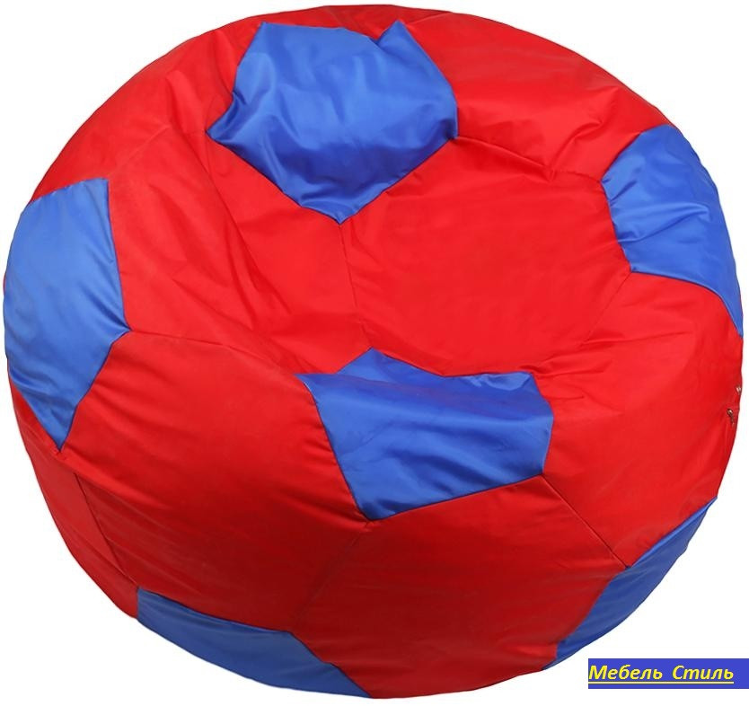 Пуф-мешок Мяч БМО6  красно-синий 110х110см.