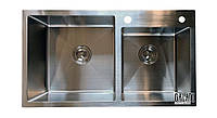 Кухонная мойка врезная под столешницу 80*45*23 см Galati Arta U-750 (бесплатная доставка), фото 1