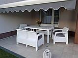 Набор садовой мебели Corfu Fiesta Set White ( белый ) из искусственного ротанга ( Allibert by Keter ), фото 10