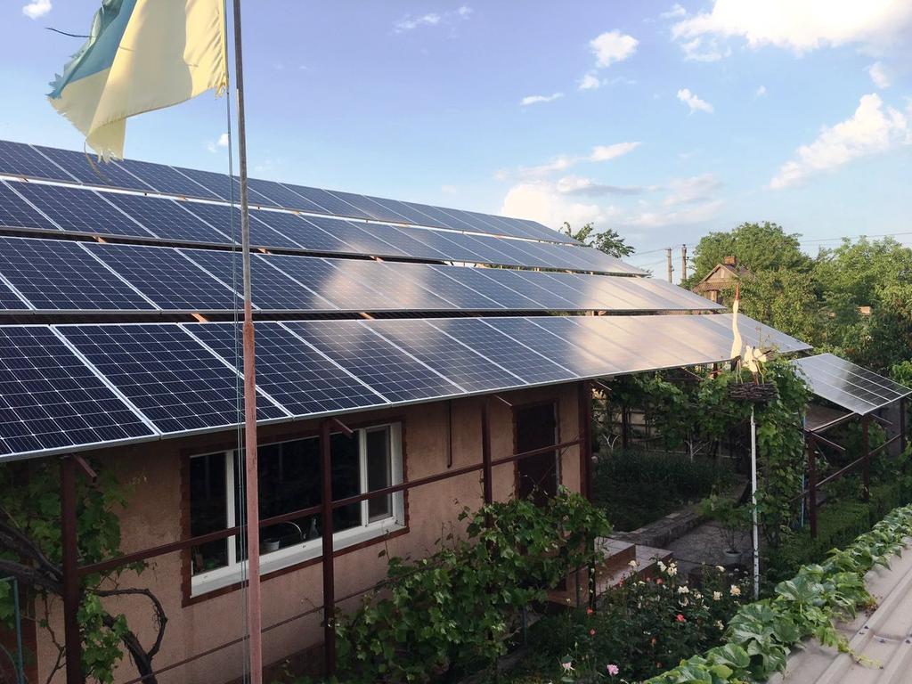 """Кривой Рог солнечная электростанция под """"зеленый"""" тариф мощностью 30,2 кВт Leapton + Huawei Днепропетровская область"""