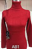 """Светр """"лапша"""" светр жіночий (Гольф) під горло 48-54, фото 2"""