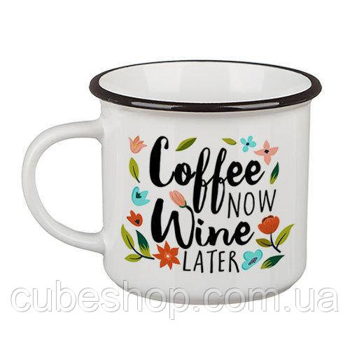 Кружка Camper «Coffee now, wine later» (250 мл)