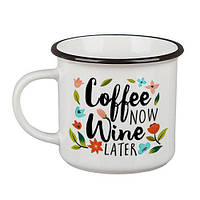 Кружка Camper «Coffee now, wine later» (250 мл), фото 1