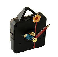 Кварцевые часы, механизм с стрелками карандаш- цветочек