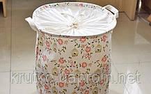 Корзина для игрушек, белья, хранения на завязках Цветы и птица Berni, фото 3