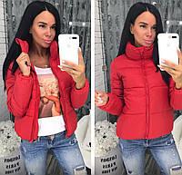 Женская стильная теплая  куртка на змейке(плащёвка,синтепон 150) 5 модных цветов, большие размеры