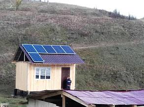 Место размещения панелей - южный скат крыши.