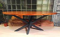 Овальный журнальный стол в стиле лофт.