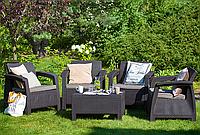 Набор садовой мебели Corfu Quattro Set из искусственного ротанга, фото 1