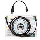 Эндоскоп HD водонепроницаемый - Видеоскоп с камерой LED-подсветкой 1 до 10 метров USB, фото 5