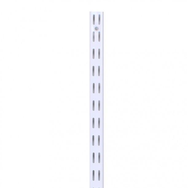 Стеновая стойка двухпазная. Гардеробная система. Консоль. Белая 1500 мм Larvij L9015WH