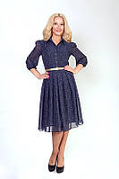 Струящееся шифоновое платье под пояс