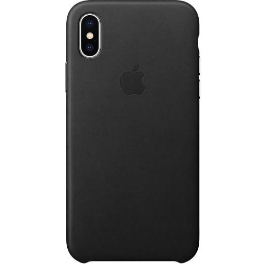 Кожаный чехол Apple Leather Case Black  для iPhone X/XS