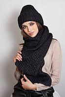 Комплект из шапочки и шарфа Дизалия черный