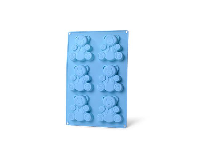 Форма 26х17х1.8см силиконовая для выпечки 6 кексов Fissman