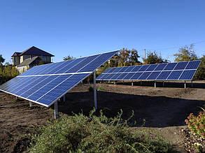 Фермы с установленными солнечными батареями.