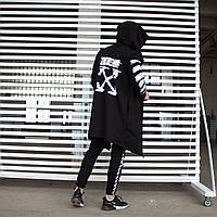 Мантия + штаны Спортивный костюм OFF WHITE black мужской осенний | Комплект весенний ЛЮКС качества