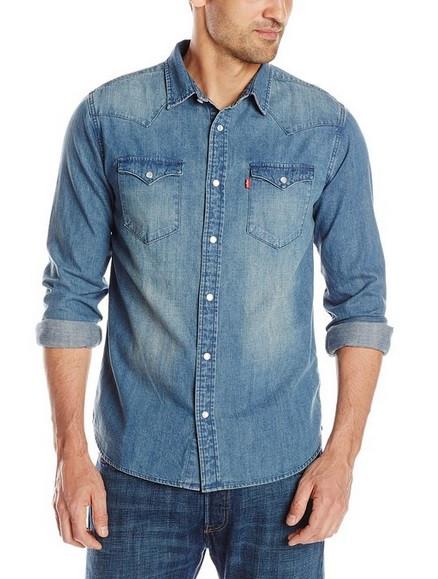 Джинсовая рубашка Levis Barstow Western - Arctic (XXL)