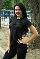 Женская спортивная футболка топ с короткими рукавами для спортзала фитнеса йоги и бега