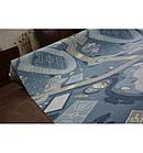 Ковер Лущув STREET 200x100 см голубой прямоугольный (X584), фото 3