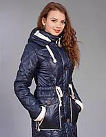 Зимняя женская куртка-парка, цвет тёмно синий