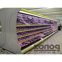 Холодильная пристенная витрина Медуза (горка, регал)