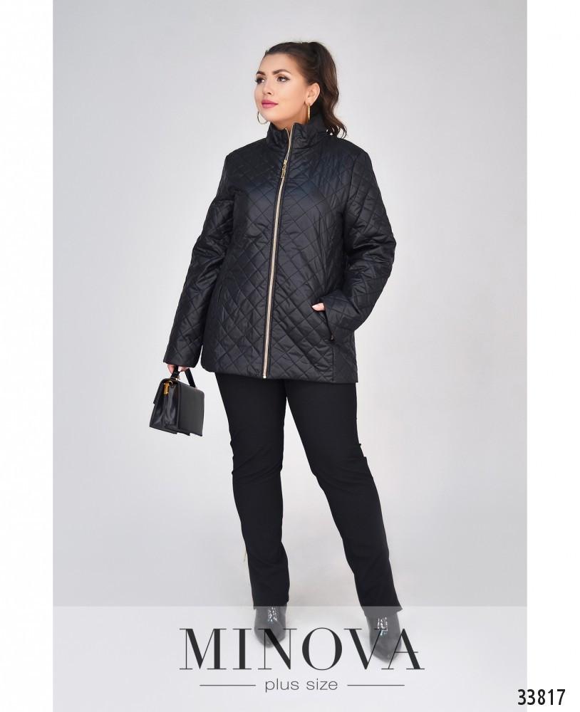 Легкая стеганная демисезонная куртка (размеры 48-62)