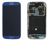 Samsung GALAXY SIV LTE I9505 blue LCD, модуль, дисплей с сенсорным экраном с рамкой в сборе