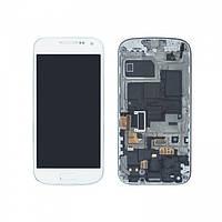Samsung GALAXY SIV Mini I9195 white LCD, модуль, дисплей с сенсорным экраном с рамкой в сборе